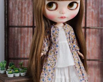Blythe/Momoko - Vintage Flower Long Coat