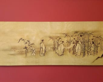 Seven Sages of the Bamboo Grove  - Canvas Print