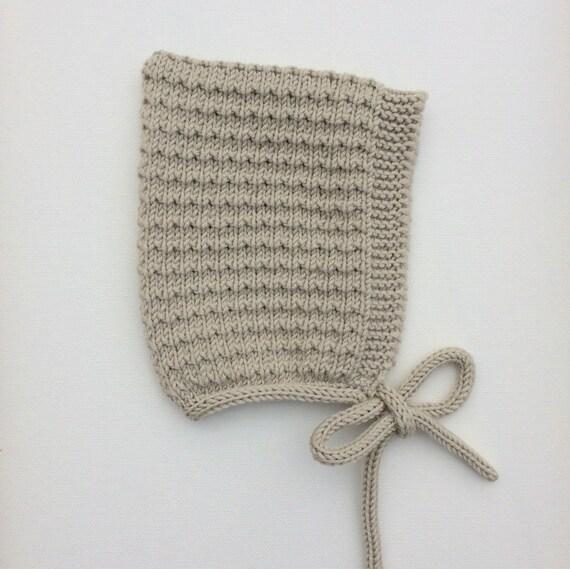Pine Pixie Hat in Almond Merino Wool - Sizes Newborn to Age 24 months - Pre-Order