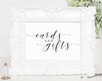 Cards and Gifts Wedding Sign, Wedding Printable Wedding Sign, Cards & Gifts Printable, Gift Table Sign, PDF Instant Download, WP007_1
