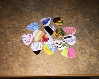 10 Hand cut gift card GUITAR PICKS