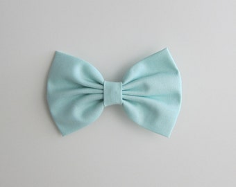 pastel mint hair bow