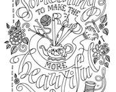 Miss Rumphius Coloring Page / Barbara Cooney / Quotes / Children's Books / Kids / Printable Download