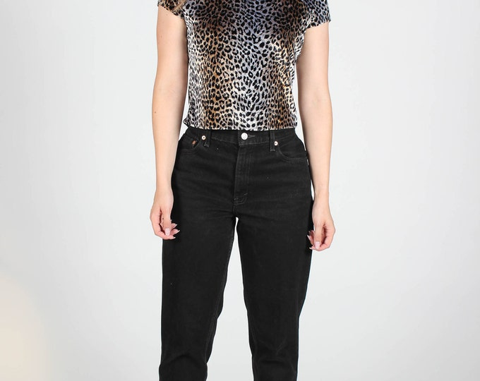 Velvet Leopard Print Top