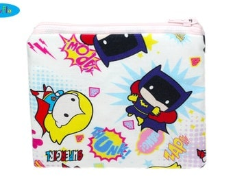 NEW! Wonder Woman Bag | Supergirl Coin Purse | Batgirl Change Wallet