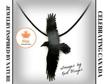 raven jewelry, crow necklace, crow jewelry, raven necklace, goth raven, crow pendant, raven totem, corvus, rook jewelry, spirit guide