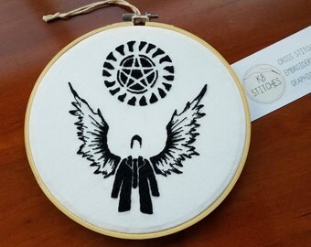 Supernatural Show Embroidery Art