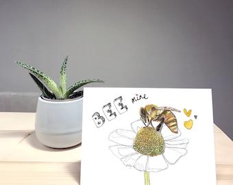 Bee Mine Anniversary Birthday Valentine's Day Card