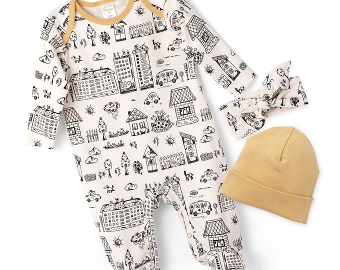 SPRING SALE! Newborn Boy Footie Romper, Baby Boy Coming Home Romper, Infant Boy Long Sleeve Romper, Infant Baby Boy Bodysuit