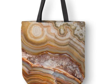 Crazy Lave Agate Tote Bag Art, Mineral Photography, Grocery Tote Bags, Small Canvas Tote, Mens Totes, Picnic Tote, Abstract Tote Bag