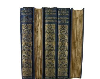 Books by Wm. Thackeray, English Literature, Interior Design, Home Decor,  Decorative books,  Book Decor, Book Wedding, Old Bo