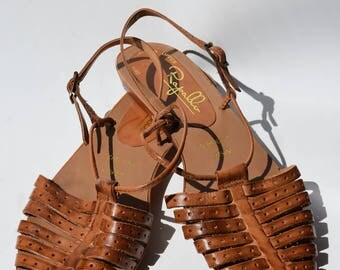 Rapallo Leather Sandals size 8