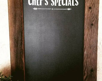 Chef's Special - Restaurant Style Chalkboard