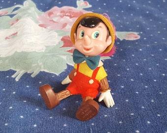 Plastic Pinocchio Doll by Disney Sitting Pinocchio Retro Walt Disney Hong Kong FS