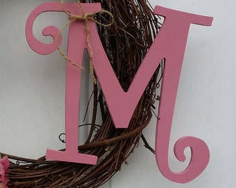 Monogram Add On, Monogram for Wreaths, Letter add on, Add on Letter, Wood Monogram, Initial for Wreaths, Wreath Monogram, Wreath Initials