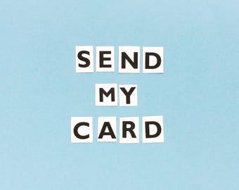 Send My Card   Handwritten Message Inside Card   Send Direct To Recipient