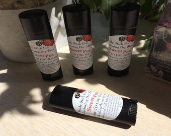 Lotion Stick for the Body (Sweet Pea)Moisturizing,Hydrates,Damaged Skin,Handmade,Gifts
