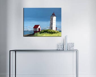 Acrylic painting - the Green Island Lighthouse