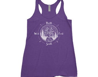 National Park Compass Adventure Next Level Ladies Tri-Blend Tank