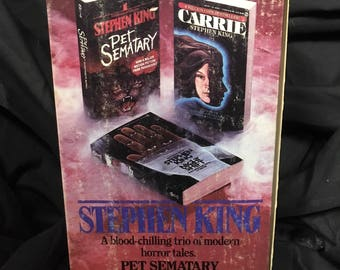 Stephen King Box Set - 3 paperbacks: Carrie - Pet Sematary - Night Shift - 1988