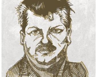 John Wayne Gacy Illustration Art Print