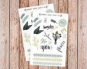 2-Pack Botanical Collection Floral Stickers for Planner or Journal