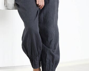 Linen pants, Loose womens trousers, Natural linen pants, Natural linen women trousers, Casual loose linen pants, Soft linen trousers