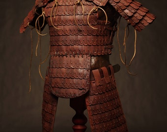 Medieval Mongol Leather FULL Armor Kit #3; Armor Costume | tatar armor | Leather Armor | Body Armour | Custom Armor | Armor set
