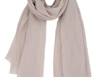 Cream Scarf,Shawls and Wraps,Beige Scarf,Oversized Scarf,Scarves for Women,Lightweight Scarf,Scarves UK,UK Seller,Gift for Her,Mum Gift