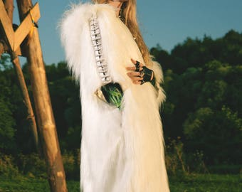 CLEMENTINE  Fur Coat | Burning Man | Festival clothes | Playa Jacket | Festival Costume | Faux fur coat | Kalifesta