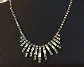Vintage Rhinestone diamanté necklace