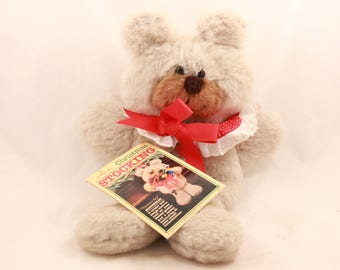 "Vintage 1984 Hallmark Christmas Stocking. ""Cranberry Bear"". QSF6057"