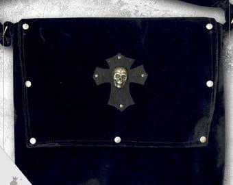 """Shoulder bag  """"Skull"""" - Extraordinary Gothic Style shoulder bag"""