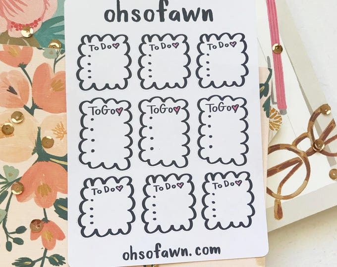 Hand Drawn List Stickers