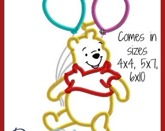 Winnie the Pooh Birthday Embroidery Design 4x4 5x7 6x10 9 formats-Applique Instant Download-David Taylor Digitizing-Number 2 Eeyore Piglet