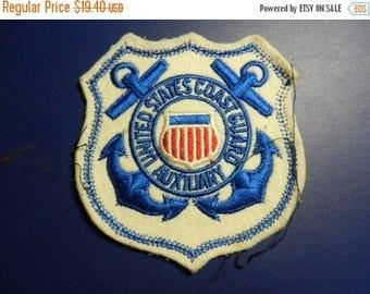 Summer Sale Vintage Large US Coast Guard Auxiliary Patch