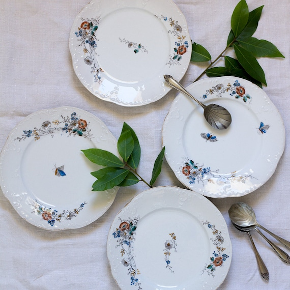 French Garden Dessert Plates - set of 4