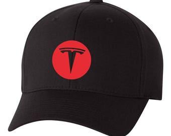 TESLA Motor  Flex Fit Hat **CURVED Bill**  ***Free Shipping in BOX***