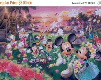 "Mickey and Minnie married needlepoint Counted Cross Stitch Pattern chart modern pattern - disney - 29.50"" x 20.50"" - L1408"