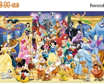 "Disney panoramic Counted Cross Stitch Disney panoramic pattern needlepoint kreuzstichvorlagen - 35.43"" x 13.50"" - L681"