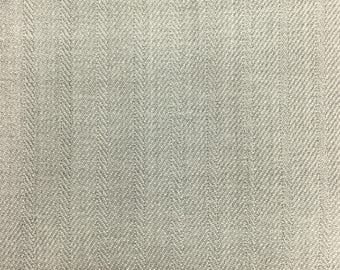 "Gray Herringbone Twill Apparel Tablecloth Drapery Knit Fabric - BTY - 60"""