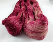 Raspberry Ripple, Avon Sock Yarn, Fingering Weight Yarn, Pink Yarn