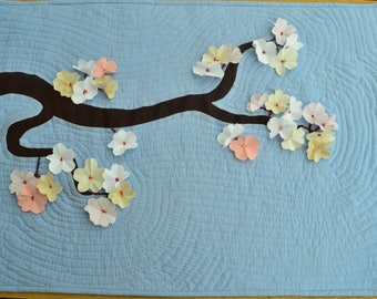 """Patchwork wall panel """"Spring in Kyoto"""""""