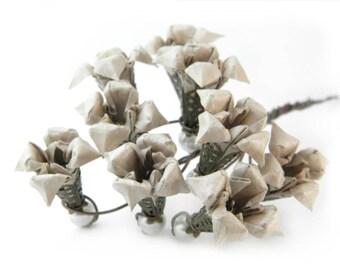 Origami earring nakigoe( flower )