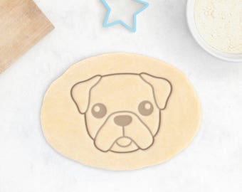 Cute Pug Cookie Cutter - Fluffy Pug Cookies Personalized Pug Gift Pug Owner Gift Custom Dog Treat Chinese Pug Mops Cookie Cutter Carlin Gift