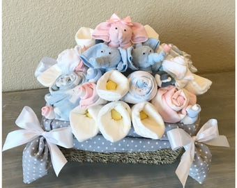 Gift Basket for Multiples, Twins, and Triplets - Baby Shower Gift for Twins/Triplets - Twins Baby Shower - Triplet Baby Shower -