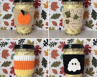 Autumn Coffee Mugs (Cozy), Coffee Mug Warmer, Cup Warmer, Halloween Coffee, Mug Cover, Fall Coffee Mugs, Thanksgiving Cup, Friendsgiving