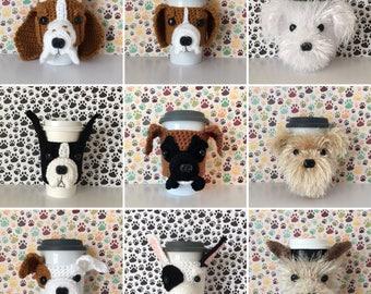 Crochet Cup Cozy, Crochet Cozy, Mug Cozy, Mug Warmer, Coffee Mug Warmer, Mug Sweater, Coffee Sleeve, Tea Mug Dog, Dog Cozies, Tea Cozy