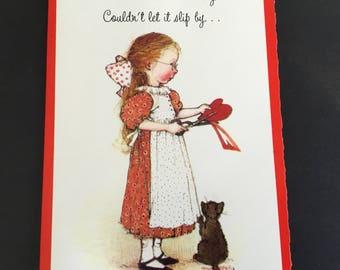 Vintage Valentine's Day Greeting Card, Holly Hobbie Card, American Greetings