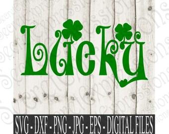 St. Patricks Day Svg, Shamrock Svg, Clover Svg, Lucky Svg, Digital Cutting File, eps, png, JPEG, DXF, SVG Cricut, Svg Silhouette, Print File